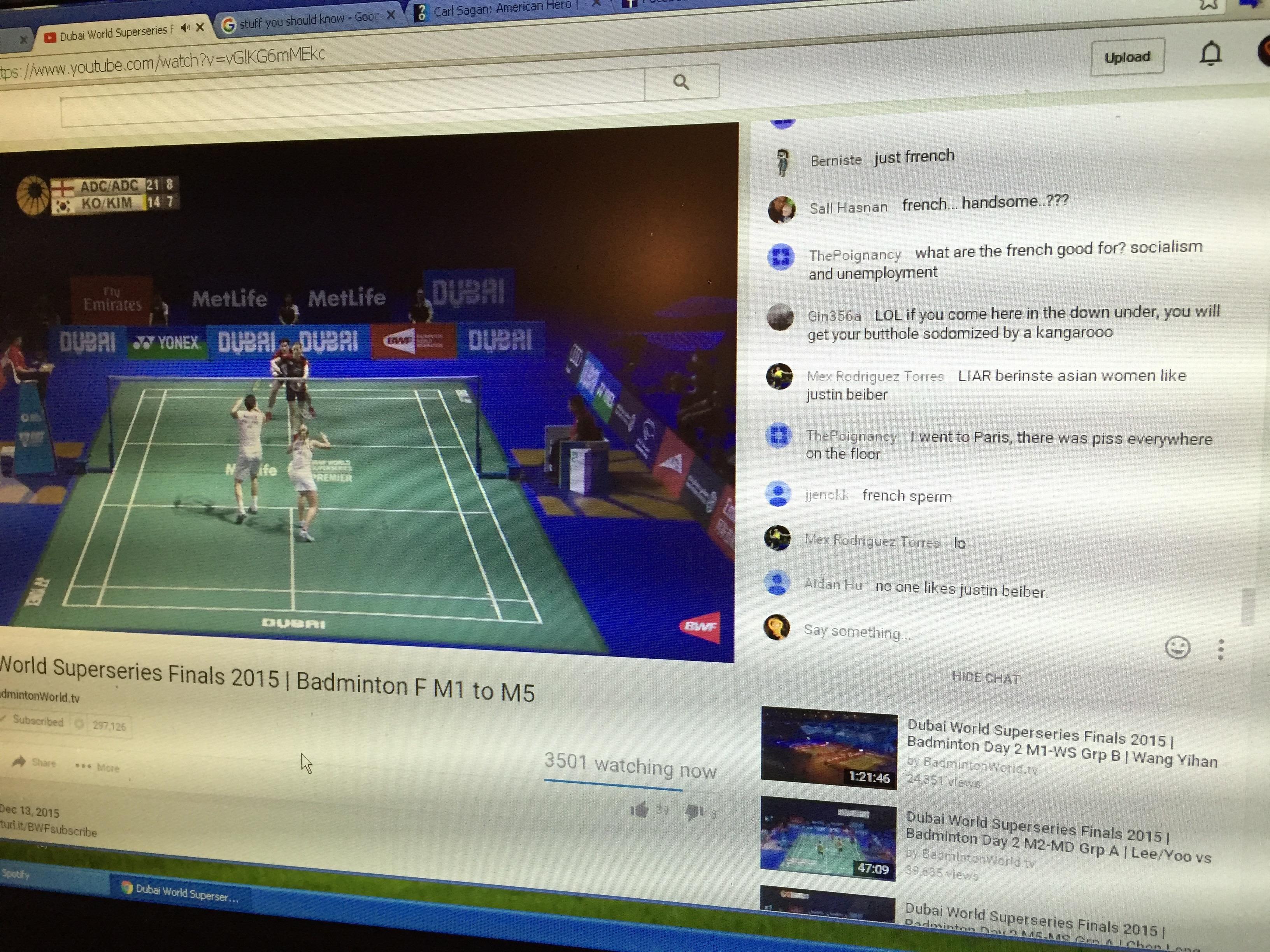 Badminton comments