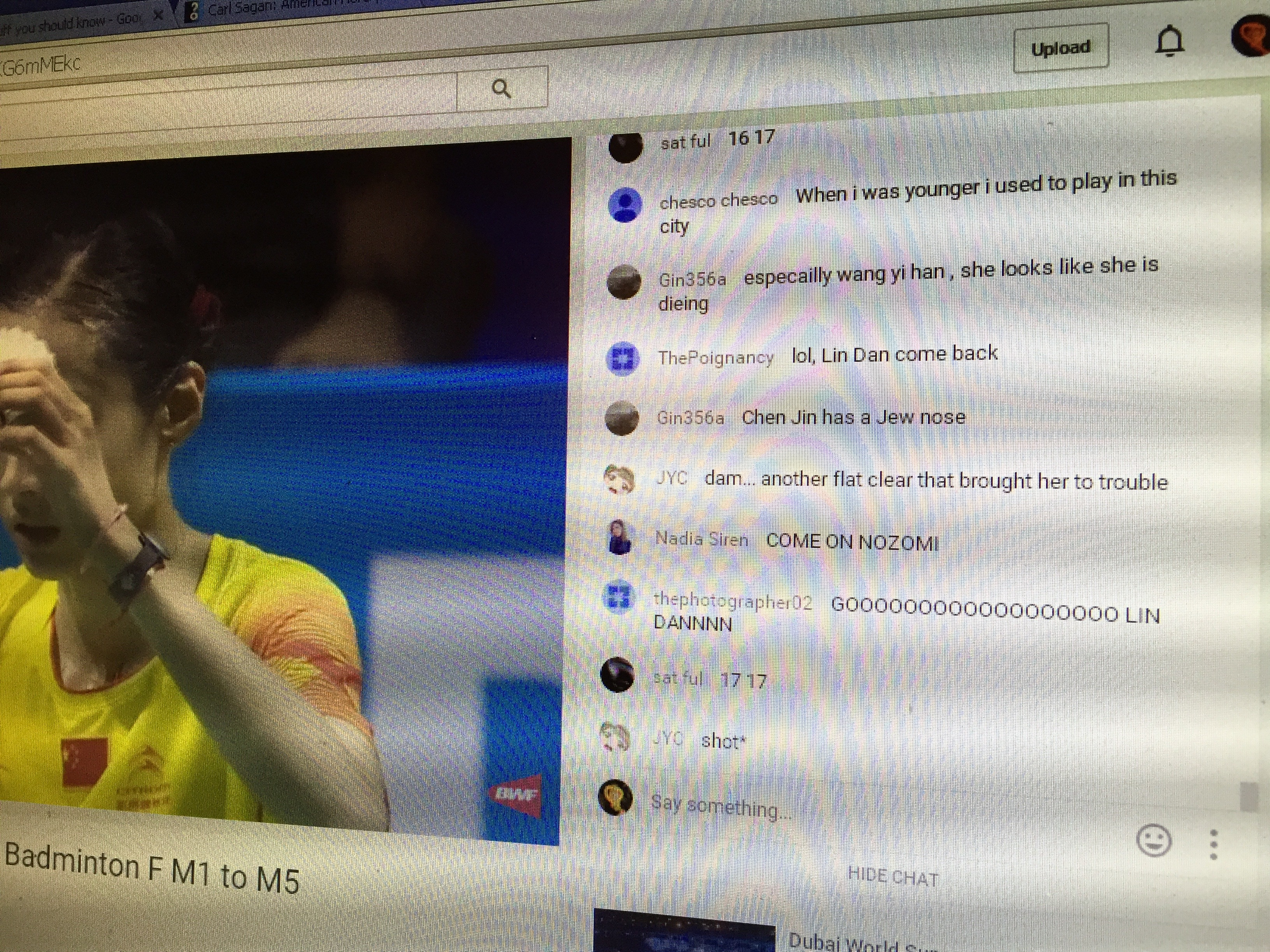 Badminton youtube comments