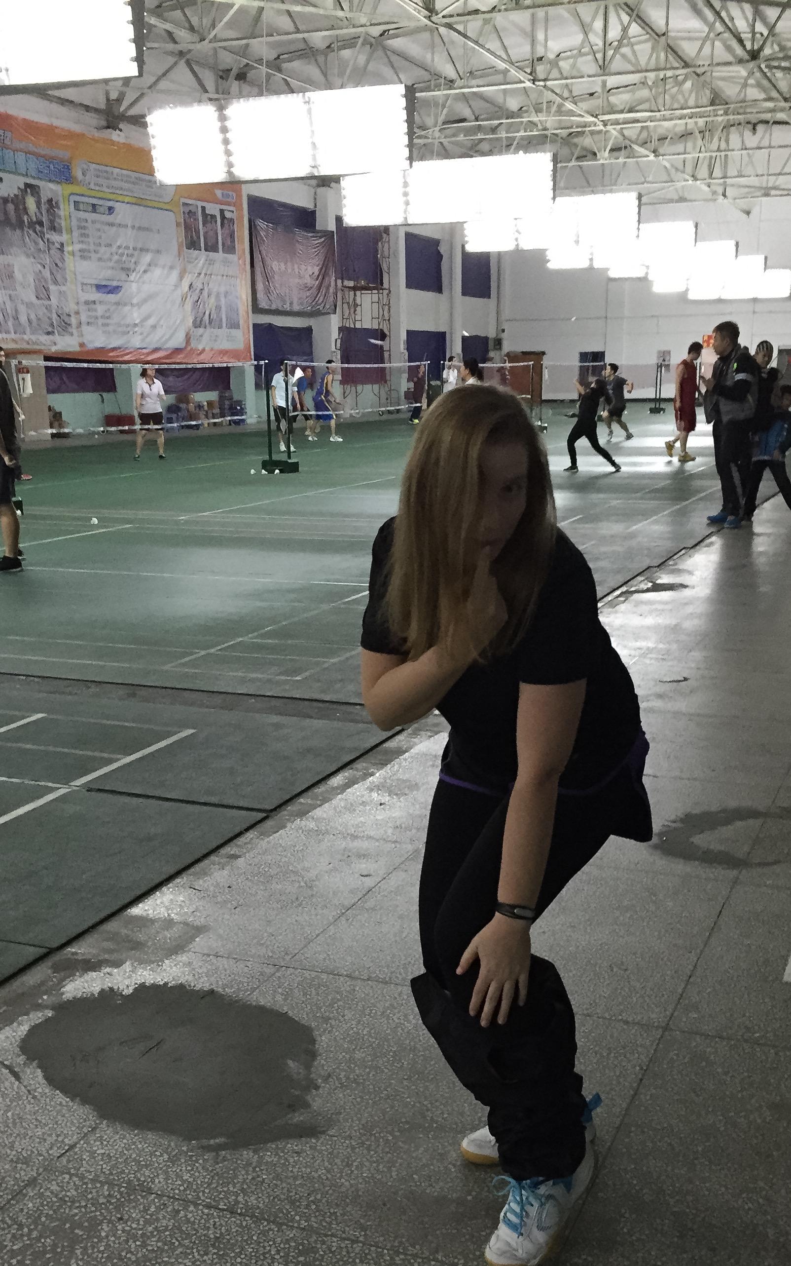 Badminton striptease