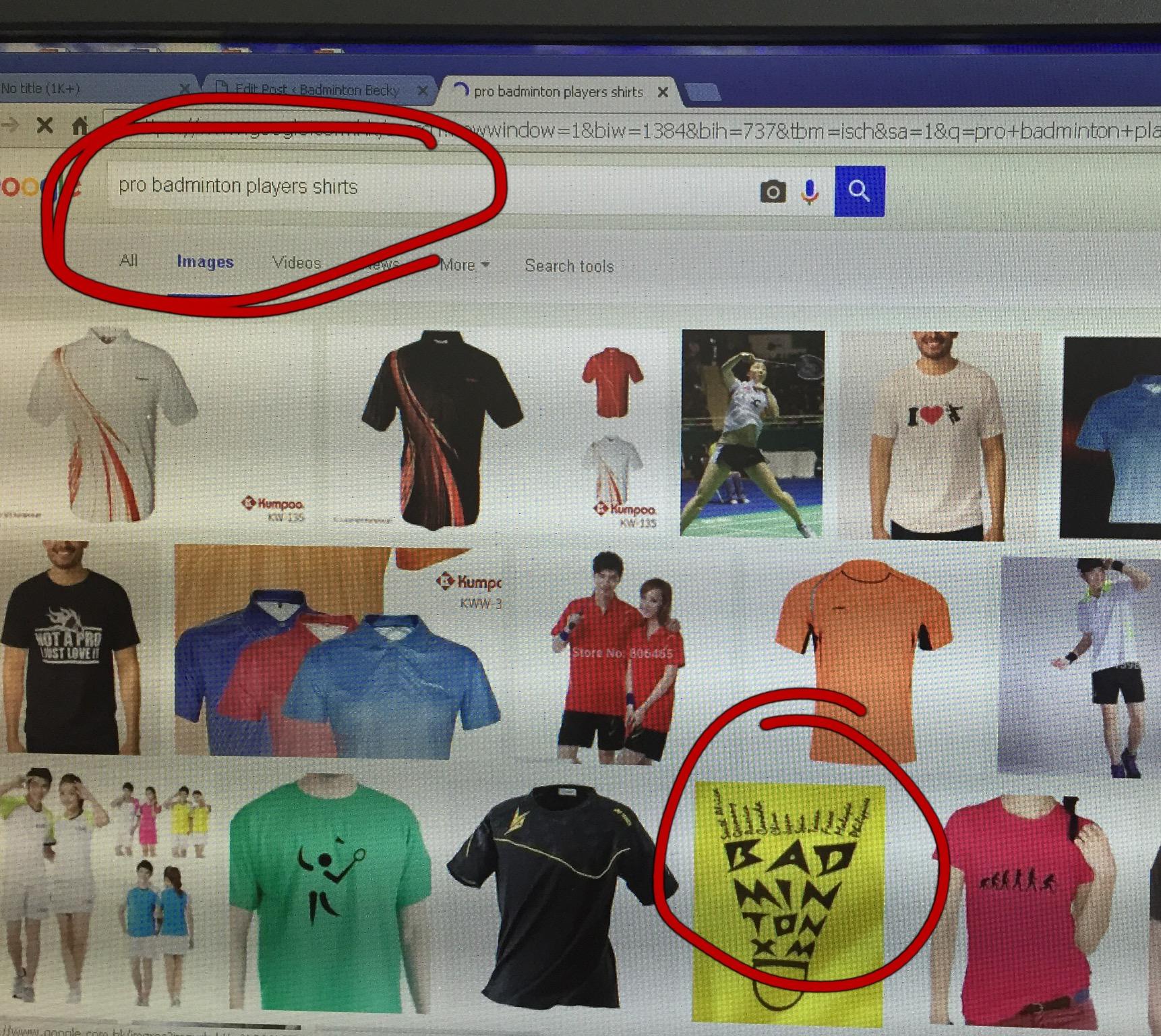 Pro players badminton shirt...me!