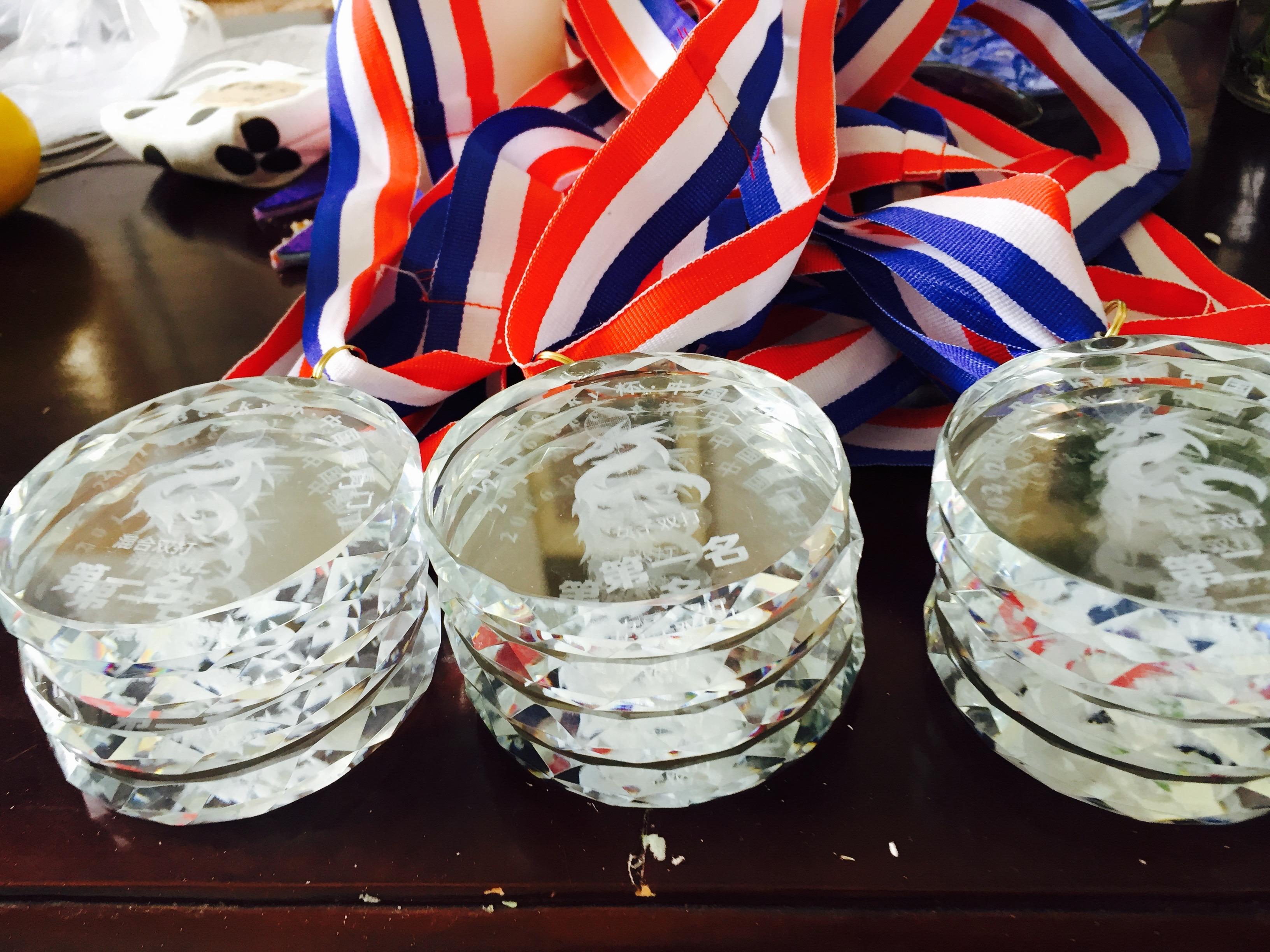 Badminton Becky Cup medals