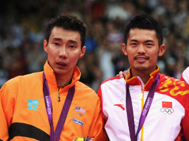 The London Olympics 2012. See how Lee Chong Wei (in orange) doesn't look super happy? That was his second Olympic gold medal loss to Lin Dan (in the white).